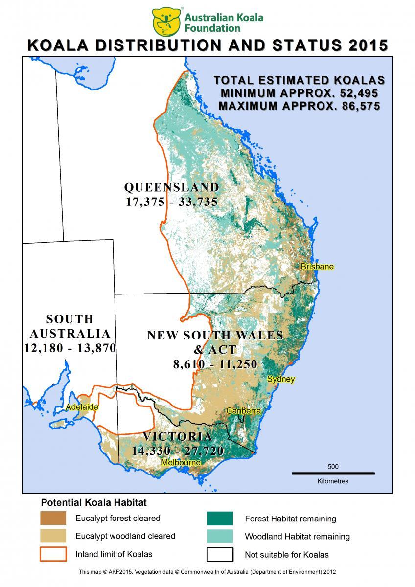KoalaDistributionandStatus2015